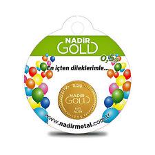 Rund Goldbarren 0,5 Gramm, Geburtstagsgeschenke, Beschneidungsfest geschenk,0,5g