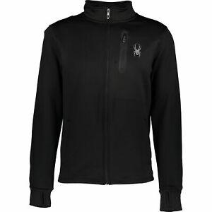 SPYDER Men's Black Fleece Sports Jacket Sz: S, M, L, XL  , rrp: us$120