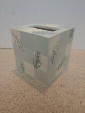 New Croscil Rainier Tissue Ceramic Holder Cover Vintage Green Blue Ceramic