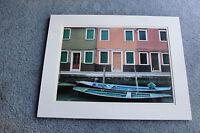 """Boat Moorage """"Riservato""""- Vintage  Art Print,Unframed. RARE!"""