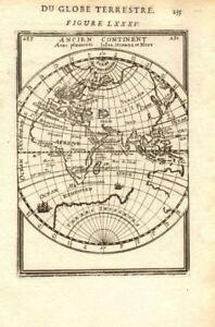 EASTERN HEMISPHERE. Australia incomplete. Europe Asia Africa. MALLET 1683 map
