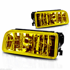 92-99 BMW E36 M3 3 Series Fog Lights Front Bumper Lamps Yellow Glass Lens PAIR