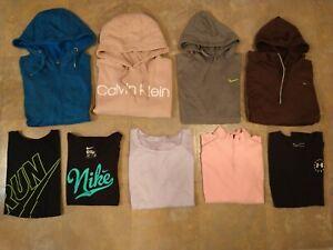 Lot of 9 women's NIKE, CALVIN, ZELLA, UNDER ARMOUR hoodies & shirts - SIZE XL