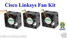 Super Quiet Cisco Linksys SLM2024 FAN KIT, 3x new Sunon MagLev fans18 dBA Noise