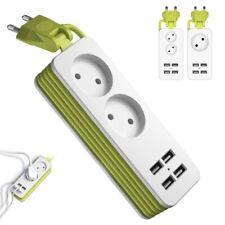 EU Plug Power Strip AC Plug Household Portable 4 USB Port Charger Socket 1.5m
