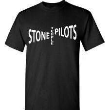 Stone Temple Pilots Logo Men's Black T-Shirt Rock Band