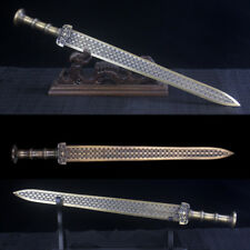 Handmade Antique Chinese Bronze Sword Full Copper Blade Nice Collection Unsharp