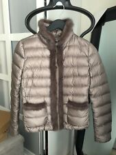 NWT Moncler Temple Padded Jacket BROWN Turtleneck Fur Trim Pockets Sz 0 SOLD OUT
