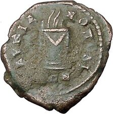 ELAGABALUS 218AD Marcianopolis FIERY ALTAR Authentic Ancient Roman Coin i45411