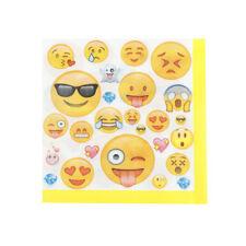20x Emoji serviettes en papier tissu bébé douche anniversaire décor de f LC