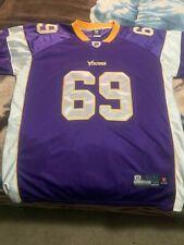 Reebok Minnesota Vikings Jared Allen Patch Sewn Jersey size 56