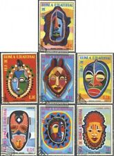 Guinea Ecuatorial 1111-1117 (edición completa) usado 1977 africanos máscaras