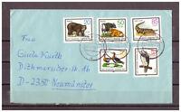 DDR, MiNr. 2952 - 2956 TSt Kirschau nach Neumünster 13.07.1985