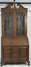 Kittinger Old Dominion Mahogany Chippendale Style Secretary Desk w Bookcase