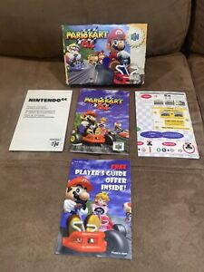 MARIO KART N64 EMPTY BOX + INSTRUCTION MANUAL + INSERTS - NO GAME CARTRIDGE
