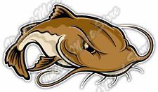 """Catfish Fish Fishing Fisherman Cartoon Car Bumper Vinyl Sticker Decal 6""""X3"""""""