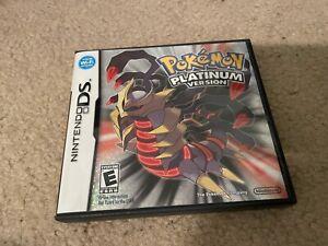Pokemon Platinum box and all manuals AUTHENTIC