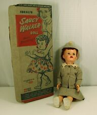 "Ideal Saucy Walker in Original Box 22"" she has a suit on & hat really fantastic"