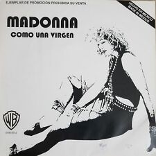 """Madonna - Like a Virgin / Material Girl Rare 12"""" Promo LP MEXICO ONLY WB 1984"""
