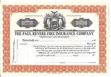 THE PAUL REVERE FIRE INSURANCE COMPANY.....UNISSUED STOCK CERTIFICATE