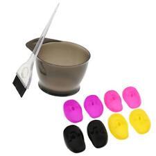 Bol+Brosse pour Coloration Teinture Cheveux Coiffure+8pcs Housse d'Oreille