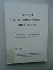 Die Vögel Baden-Württembergs Übersicht Bd. 9 Sonderheft 1970 Ornithologie