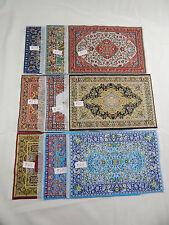 """6""""x9"""" #99 LOT Dollhouse Miniature 1:12 Scale Floor Carpet  Woven Rug 6 pcs"""