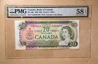 Canada BC-50b 1969 $20 Lawson   Bouey S/N YG5594429 PMG 58 EPQ