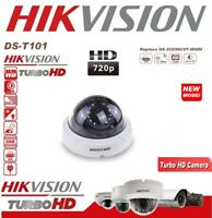 TELECAMERA DOME HD TVI HIKVISION TURBO AHD 720P 2.8MM VISIONE NOTTURNA DS-T101