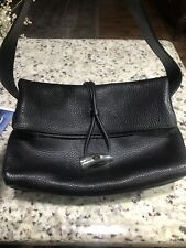BURBERRY Leather Haymarket Bag Horn Toggle Purse. Very Classic!