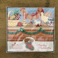 Vintage Hallmark Christmas Postalettes Mantle Country
