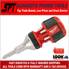 "MILWAUKEE 48222320 COMPACT RATCHETING MULTI BIT SCREWDRIVER 8in1 DRIVER 1/4"" HEX"