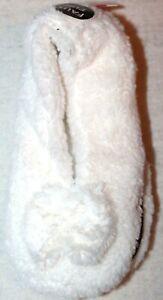 Ladies Women's Faux Fur White Slippers Slipper Socks Size 9-11