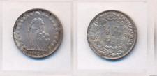 Schweiz  1/2 Fr. 1921 B  Silber   aUNZ/bankfrisch  selten