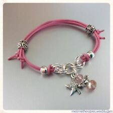 Silver Plated Leather Love & Hearts Costume Bracelets