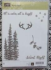 STAMPIN' UP!  ~WONDERLAND CLEAR MOUNT STAMP SET ~ CHRISTMAS PINE TREES