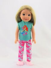 """Little Mermaid Inspired Pant Set Fits Wellie Wishers 14.5"""" American Girl Clothes"""