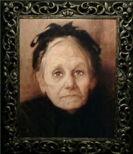 "Haunted Spooky Photo ""Eyes Follow You"" Old Woman"