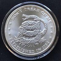 2014 Silver 1 oz .999 Dont Tread on Me BU Price of Liberty Round Snake Eagle