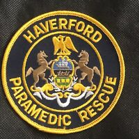 Haverford Paramedic Rescue Patch - 4 inches x 4 inches - Pennsylvania