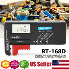 AA//AAA//C//D//9V//1.5V Button CellBattery Volt Tester BT-168D Checker New bhh