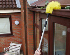 Telescopic Gutter Brush Extendable Tool Leaves Drain Roof Debris 6 Feet ~