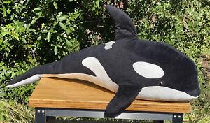 "Melissa And Doug Jumbo Orca Whale Plush 42"""
