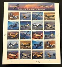 Us Scott # 3916-3925 ~ 37¢ Advances in Aviation sheet Mnh