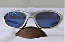 Vintage OAKLEY Twenty XX Ice Iridium Blue Lens Silver FMJ 5.56 Sunglasses 04-281