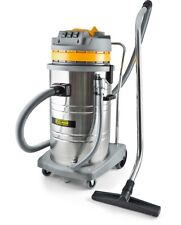 Pullman Cb80-ss Commercial Vacuum Cleaner Three 1000w Bypass Motors Dual Wet Dry