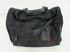 TUMI Weekender Travel Bag / Small Duffle Bag / Carry Bag Black Nylon