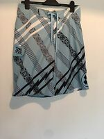 BLUE WHITE SWIM SHORTS MENS WAIST 31 IN QUIKSILVER SUMMER BEACH SPORTS RRP £40