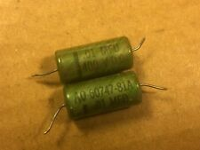 2 Vintage Fast .01 uf 600v Oil Capacitors Pio Guitar Tone Caps 1955 Tested .02