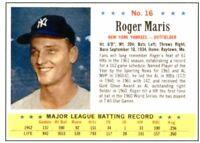 1963 Post Cereal Baseball REPRINT # 16 Roger Maris -- Yankees